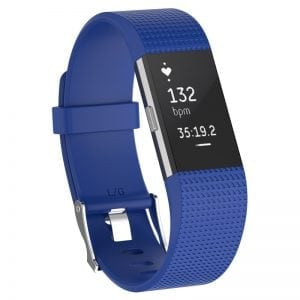 Luxe Siliconen Bandje SMALL voor FitBit Charge 2 – blauw_010
