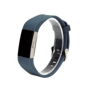 Luxe Siliconen Bandje SMALL voor FitBit Charge 2 – cyaan blauw_001