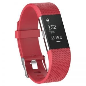 Luxe Siliconen Bandje SMALL voor FitBit Charge 2 – rose rood_004