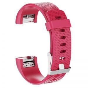Luxe Siliconen Bandje SMALL voor FitBit Charge 2 – rose rood