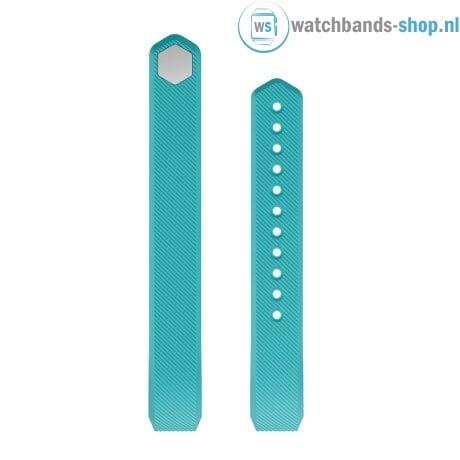 Luxe Siliconen Bandje large voor FitBit Alta – blauw groen