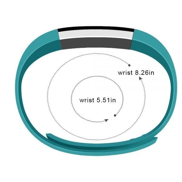 Luxe Siliconen Bandje large voor FitBit Alta – blauw groen_001