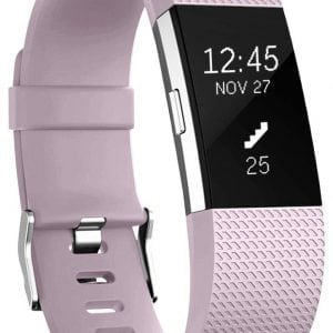 Luxe Siliconen Bandje large voor FitBit Charge 2 – lavendel donker_005