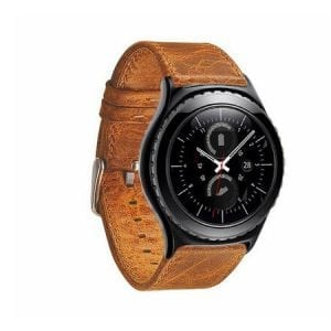 Samsung Gear S2 bandje Retro Leer Lichtbruin_004