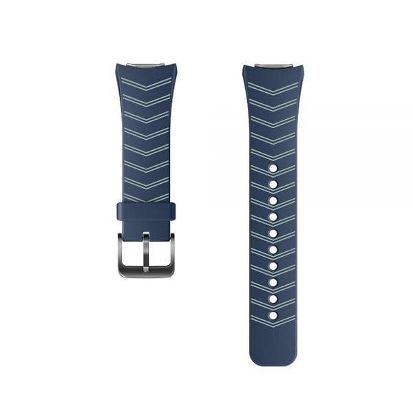 Samsung Gear S2 bandje silicone blauw met patroon_001