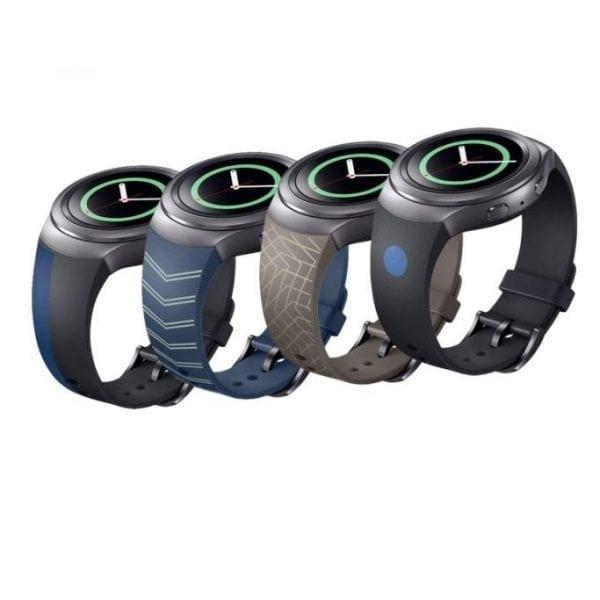 Samsung Gear S2 bandje silicone blauw met patroon_003