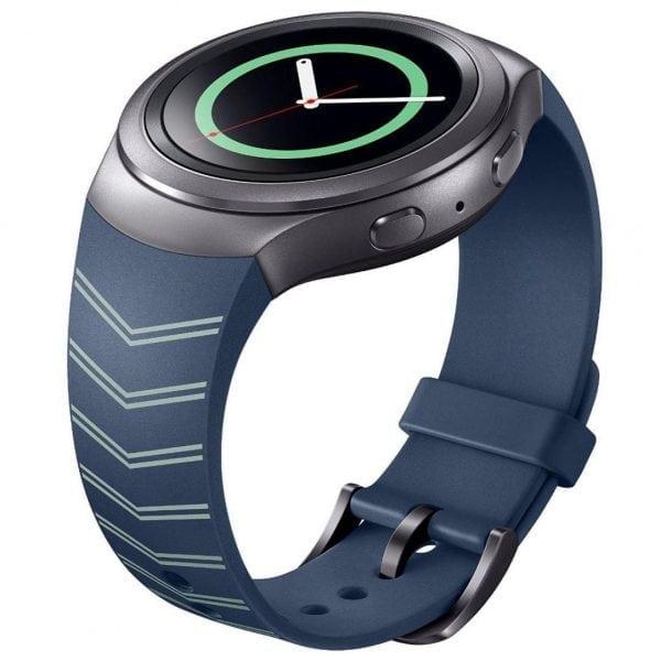 Samsung Gear S2 bandje silicone blauw met patroon_008