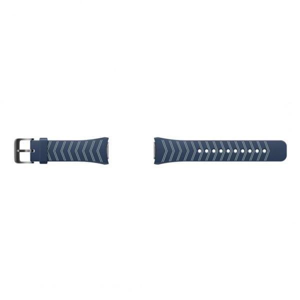 Samsung Gear S2 bandje silicone blauw met patroon_009