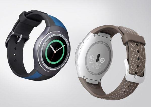 Samsung Gear S2 bandje silicone bruin met patroon_002