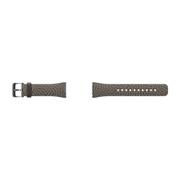 Samsung Gear S2 bandje silicone bruin met patroon_003