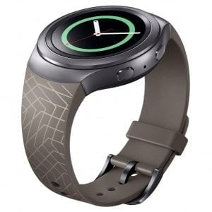 Samsung Gear S2 bandje silicone bruin met patroon_005