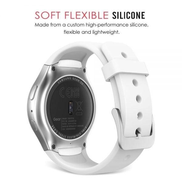 Samsung Gear S2 bandje silicone wit_002