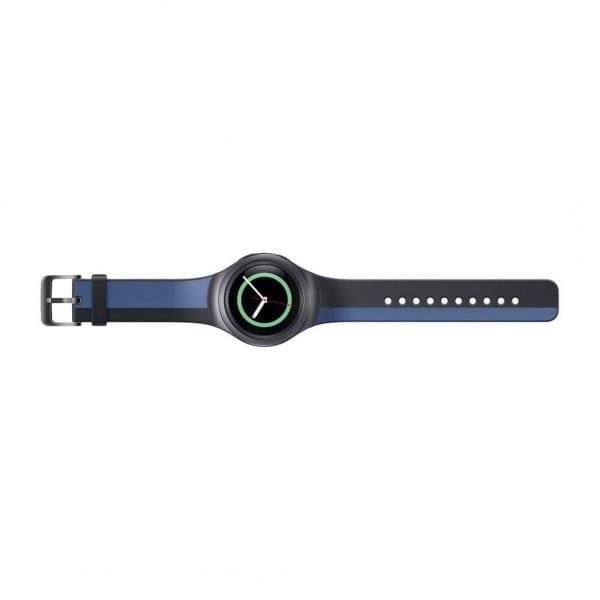 Samsung Gear S2 bandje silicone zwart blauw_003