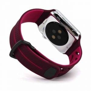 Apple Watch bandje 38mm paars siliconen_003