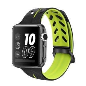 Apple Watch bandje 38mm zwart-geel siliconen_002