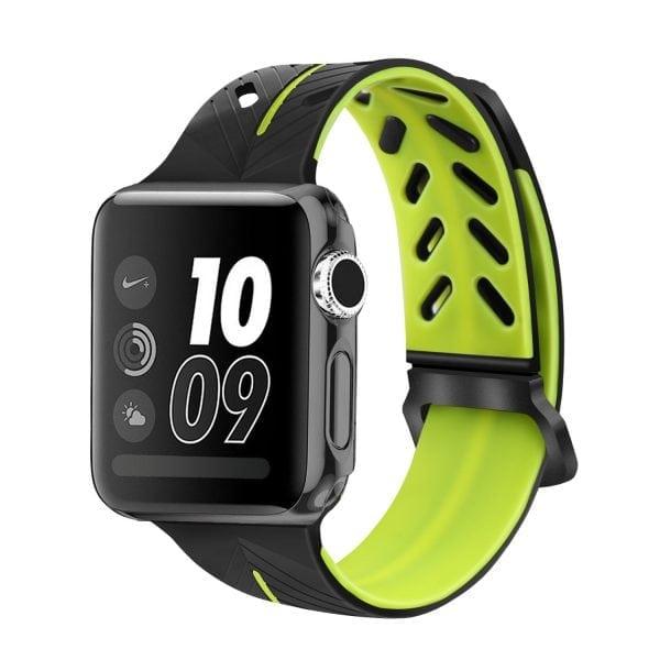 Apple Watch bandje 38mm zwart-geel siliconen_003