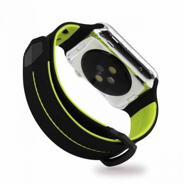 Apple Watch bandje 38mm zwart-geel siliconen_007