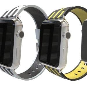 Apple watch bandje 38mm duo grijs - roze