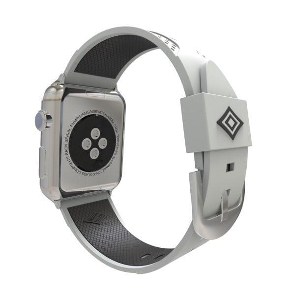 Apple watch bandje 38mm duo grijs - zwart_003