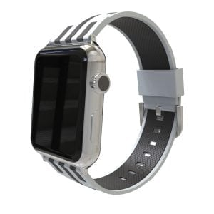 Apple watch bandje 38mm duo grijs - zwart_004