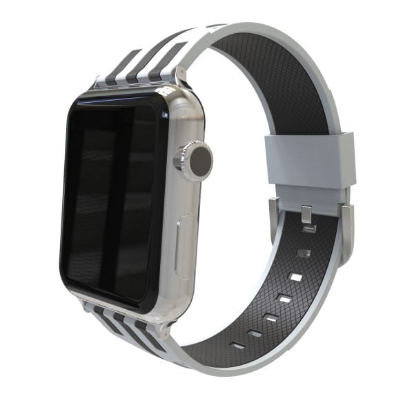 Apple watch bandje 38mm duo grijs - zwart_004