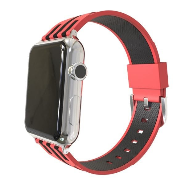 Apple watch bandje 38mm duo rood - zwart_003