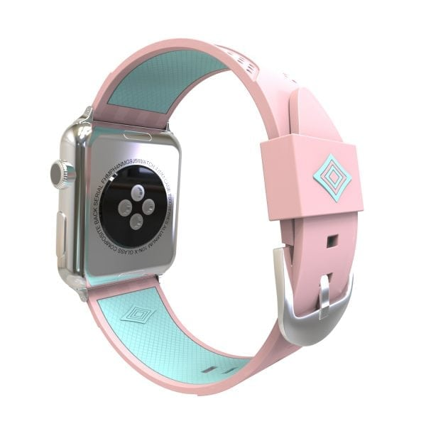 Apple watch bandje 38mm duo roze - groen_003