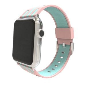 Apple watch bandje 38mm duo roze - groen_004