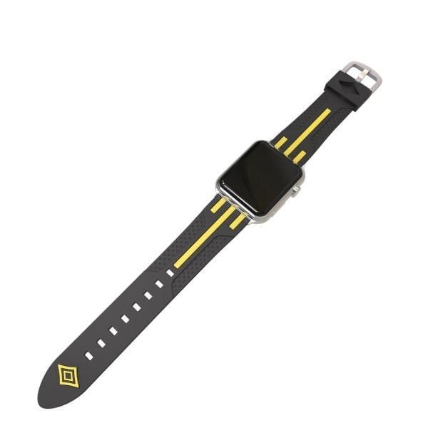 Apple watch bandje 38mm duo zwart - geel_001