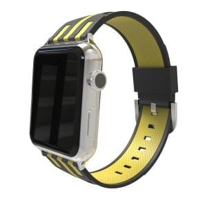 Apple watch bandje 38mm duo zwart - geel_003