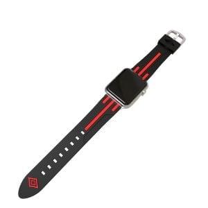 Apple watch bandje 38mm duo zwart - rood_001