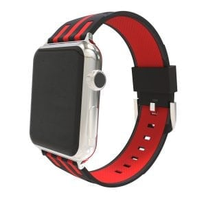 Apple watch bandje 38mm duo zwart - rood_003