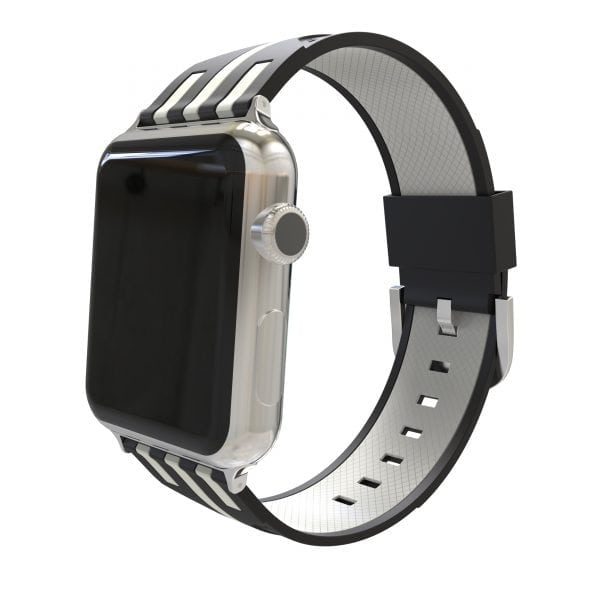 Apple watch bandje 38mm duo zwart - wit_003