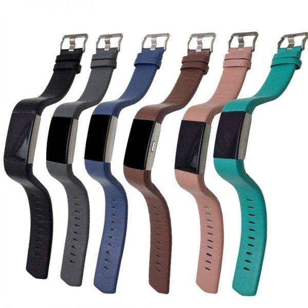 Fitbit Charge 2 bandje leer blauw_001
