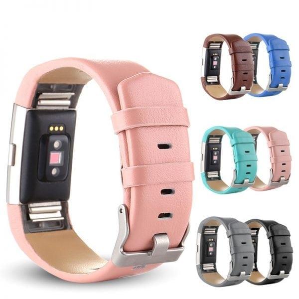 Fitbit Charge 2 bandje leer blauw_004