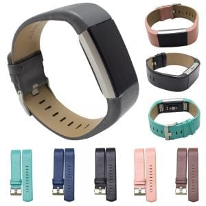 Fitbit Charge 2 bandje leer blauw_008