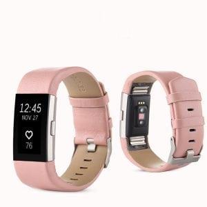 Fitbit Charge 2 bandje leer roze_0013