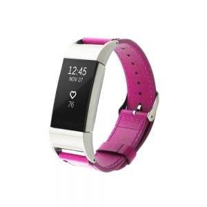 Fitbit Charge 2 bandje leer roze_002