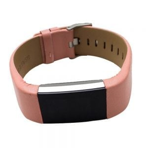 Fitbit Charge 2 bandje leer roze