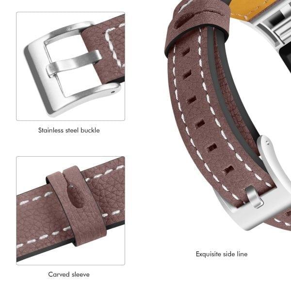Fitbit Charge 2 bandjes leer bruin_008