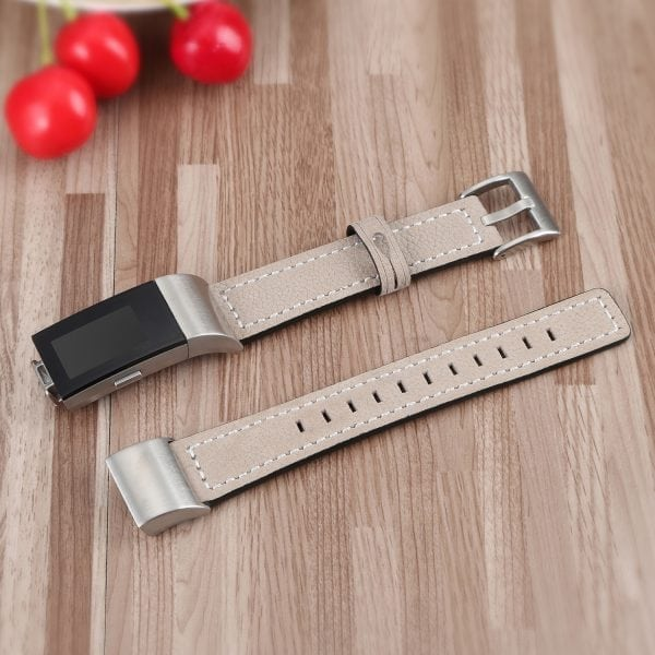 Fitbit Charge 2 bandjes leer kaki_005