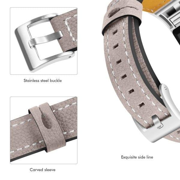 Fitbit Charge 2 bandjes leer kaki_008