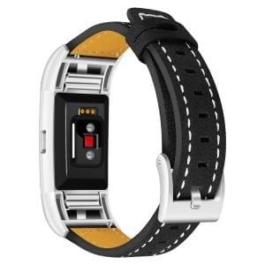 Fitbit Charge 2 bandjes leer zwart_002