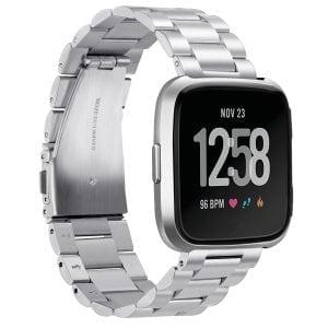 Fitbit Versa bandje RVS zilver kleurig_004