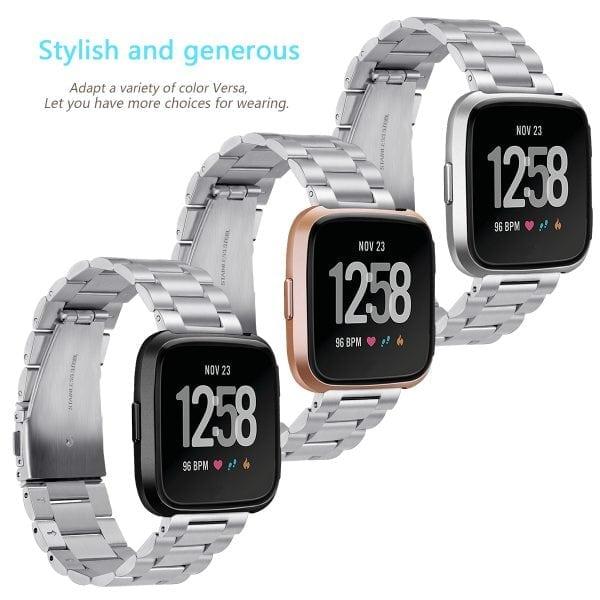 Fitbit Versa bandje RVS zilver kleurig_005