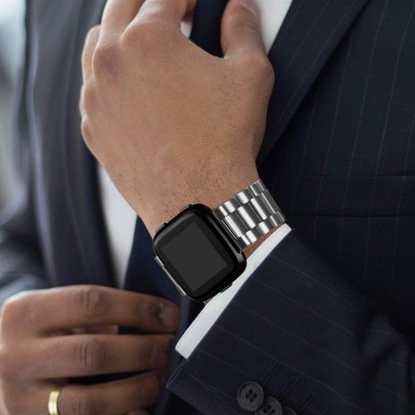 Fitbit Versa bandje RVS zilver kleurig_007
