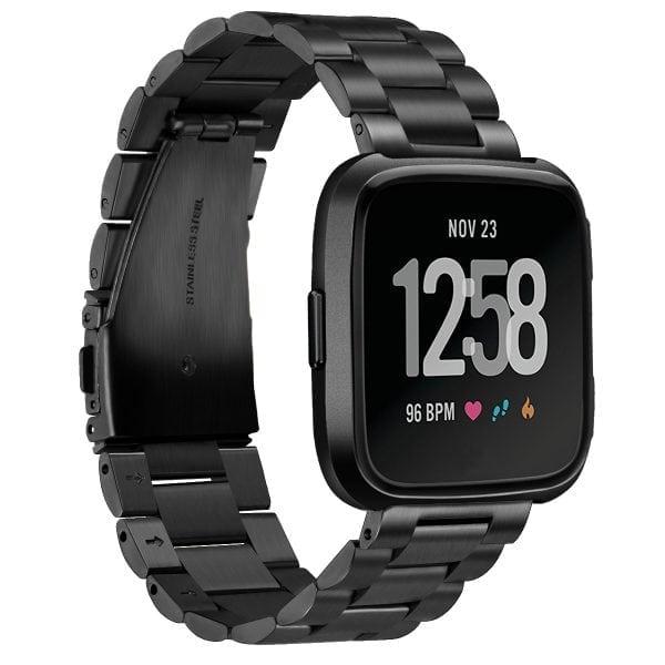 Fitbit Versa bandje RVS zwart kleurig_002