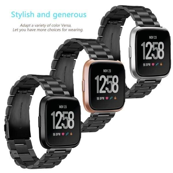 Fitbit Versa bandje RVS zwart kleurig_004
