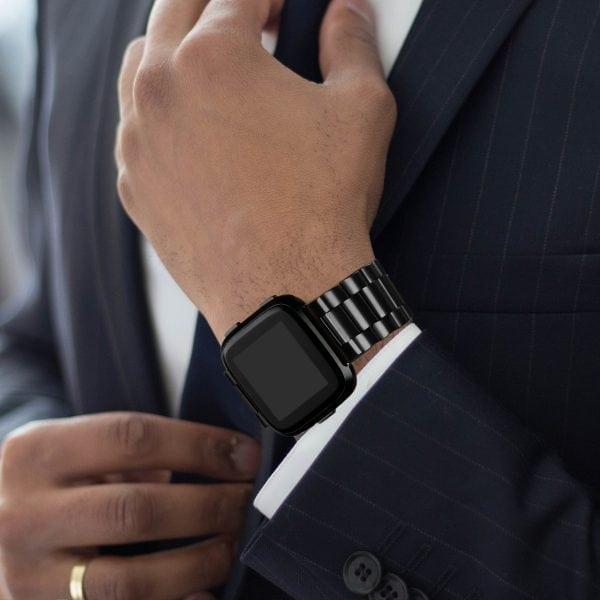 Fitbit Versa bandje RVS zwart kleurig_005