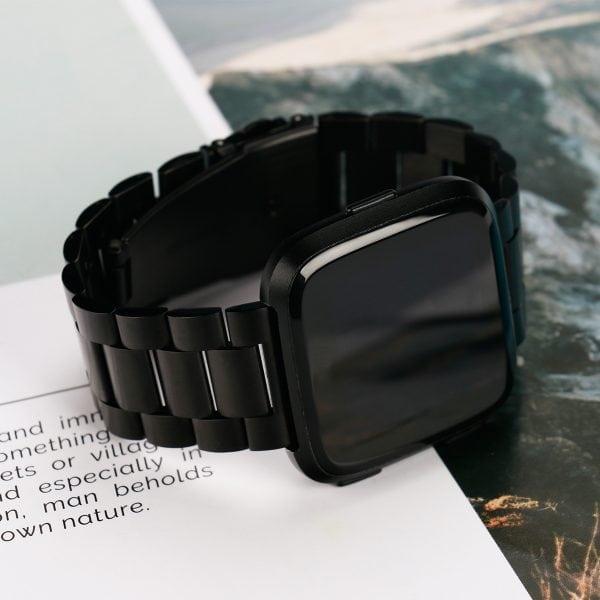 Fitbit Versa bandje RVS zwart kleurig_006